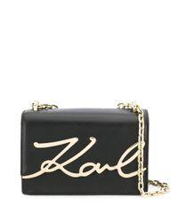 Karl Lagerfeld K/signature Schoudertas in het Black