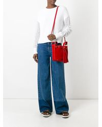 RED Valentino - White Ribbed Jumper - Lyst