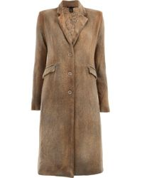 Avant Toi Classic Single-breasted Coat Natural