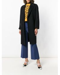 Fendi Blue Straight-leg Tailored Trousers