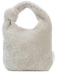 Loeffler Randall - Gray Mini Knot Tote - Lyst