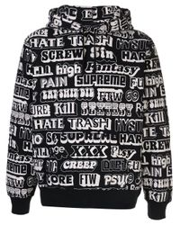 Supreme Black Hysteric Glamour Hoodie for men