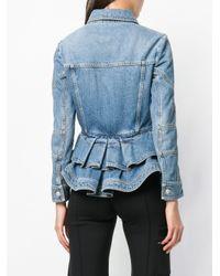 Джинсовая Куртка С Баской Alexander McQueen, цвет: Blue