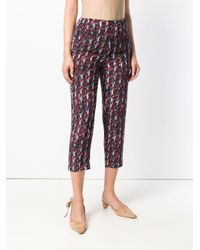 Marni Multicolor Printed Cropped Trousers