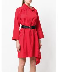 FEDERICA TOSI - Red Belted Asymmetric Dress - Lyst
