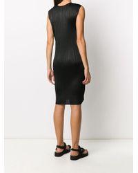 Pleats Please Issey Miyake Black Plissiertes Kleid