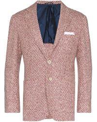 メンズ Kiton カシミア シングルジャケット Red
