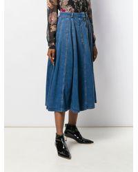 Elisabetta Franchi ハイウエスト スカート Blue