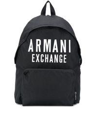 メンズ Armani Exchange ロゴ バックパック Black