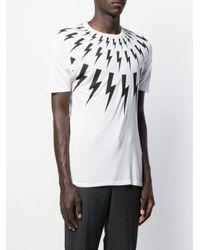 T-shirt à imprimé graphique Neil Barrett pour homme en coloris White