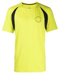 メンズ Calvin Klein ロゴ Tシャツ Yellow