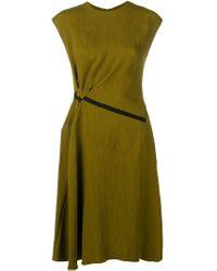 Palmer//Harding Green Gathered Waist Dress
