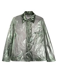 Our Legacy Green Hemd mit Sheer-Effekt
