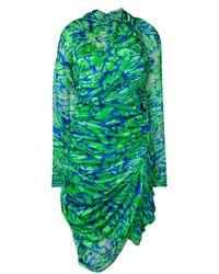 Vestido drapeado asimétrico Preen By Thornton Bregazzi de color Green