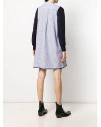 Sacai Blue Gestreiftes Kleid