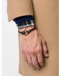 Ferragamo - Black Gancio Braided Bracelet for Men - Lyst
