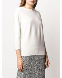 Jersey holgado con cuello redondo Peserico de color White