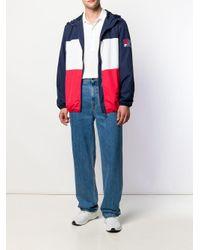 Veste zippée colour block Fila pour homme en coloris Blue