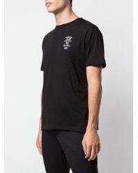 メンズ Raf Simons ロゴ Tシャツ Black
