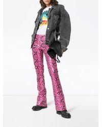 Marques'Almeida レザー パンツ Pink