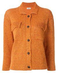 Coohem Orange Knitted Long Sleeve Shirt