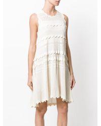 Burberry White Wave Dress