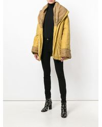 Romeo Gigli Pre-Owned Yellow Oversize Textured Coat
