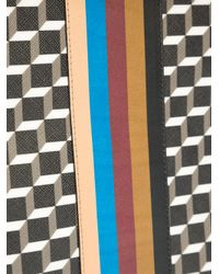 Pierre Hardy - Black Geometric Print Clutch - Lyst