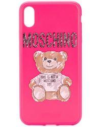 Moschino Pink Brushstroke Teddy Bear Iphone Xs/x Case
