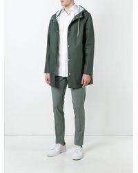 Stutterheim | Green Drawstring Hood Raincoat for Men | Lyst
