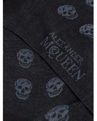 Calcetines cortos con calaveras Alexander McQueen de hombre de color Blue