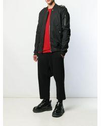 メンズ Rick Owens ロングtシャツ Red