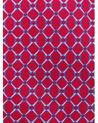 Corbata con motivo Church's de hombre de color Red