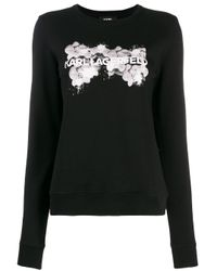 Karl Lagerfeld ロゴ セーター Black