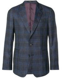 Blazer a cuadros Paul Smith de hombre de color Blue