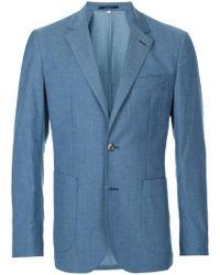 Hardy Amies - Blue Classic Blazer for Men - Lyst