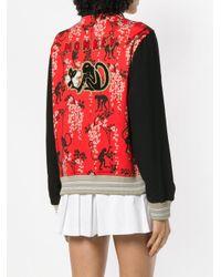 RED Valentino Red Monkey Printed Bomber Jacket