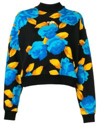 Floral sweatshirt MSGM en coloris Black