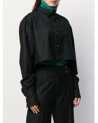 Societe Anonyme クロップドシャツ Black