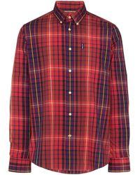メンズ Barbour Highland チェックシャツ Red