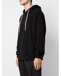 Sudadera con logo estampado y capucha Iise de hombre de color Black