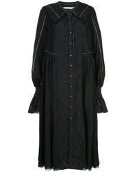 Renli Su レーストリム ドレス Black