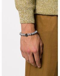 Northskull - Gray Skull And Rock Bracelet - Lyst