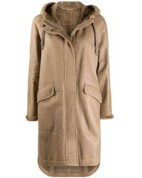 Cappotto midi di Brunello Cucinelli in Natural