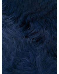 Gucci ファースカーフ Blue