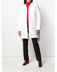 Abrigo oversize acolchado MM6 by Maison Martin Margiela de color White