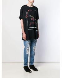 T-shirt en jersey de coton à logo imprimé Balmain pour homme en coloris Black