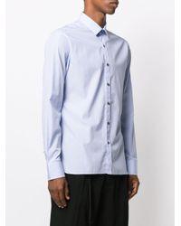 メンズ Lanvin ストライプシャツ Blue