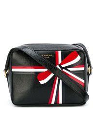 Thom Browne Black Bow Print Shoulder Bag