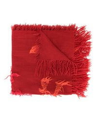 Y's Yohji Yamamoto カットオフディテール スカーフ Red